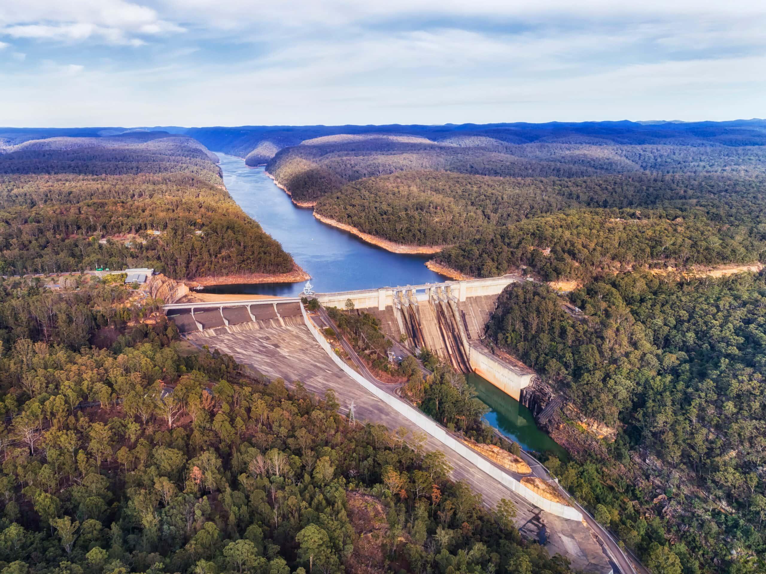 Concrete,Warragamba,Dam,On,Warragamba,River,Locking,Flow,Of,Fresh